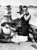 1921 - Buster Keaton on the set of The High Sign