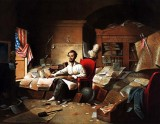 1862 - Lincoln at work on the Emancipation Proclamation