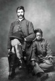 Slave owner with slave boy