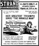 October 7, 1922 - Newspaper ad