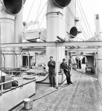 c. 1898 - USS Brooklyn spar deck, League Island Navy Yard