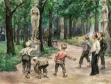 1921 - Teenagers in the imperial garden of Petrograd