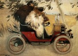 1901 - Ramon Casas and Pere Romeu in an Automobile
