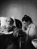 1902 - Leo Tolstoy, during illness, with daughter Tatyana