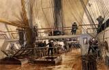 1883 - On deck of the Frigate Svetlana