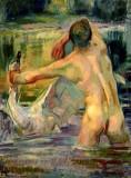 1918 - Boy with a Swan