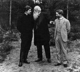 c. 1904 - Writer Maxim Gorky, literary critic Vladimir Stasov, and artist Ilya Repin
