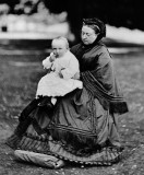 1883 - Queen Victoria with her great-grandson...