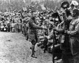 1917 - Alexander Kerensky with troops on the Western Front
