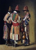 1869 - Dervishes in festive clothes