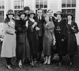 c. 1922 - Charlie Chaplin with members of Anna Pavlova's ballet company