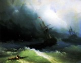 1866 - Ships in the stormy sea