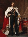 1911 - King George V in coronation robes