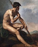 c. 1816 - Nude Warrior with a Spear