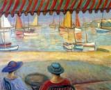 c. 1919 - Café on the terrace