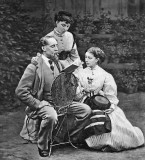 1866 - Charles Dickens reading to his daughters Mamie and Katie