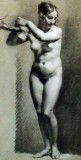 1800 - Standing female nude