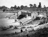 1862 - Bethesda Terrace under construction