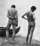 c. 1883 - Thomas Eakins and John Laurie Wallace on a Beach