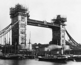 c. 1893 - Tower Bridge under construction