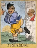 March 19, 1798 - John Bull farts at a poster of George III