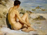 1912 - Boy on a Beach