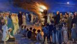 1906 - Midsummer Eve Bonfire on Skagen Beach