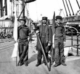 c. 1865 - Signalmen on USS Harvest Moon