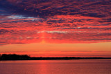 Sky over the Bay of Quinte before sunrise