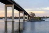 Norris Whitney Bridge and causeway from former Bay Bridge