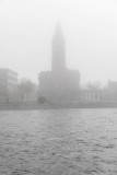 Belleville City Hall on a foggy morning