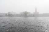 Looking across the Moira River on a foggy morning