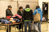 Project Cold distribution of donated winter clothing