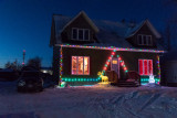 House decorated on Revillon Road