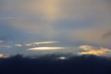 Sunrise below the clouds