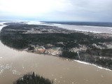 Cree Villge Ecolodge from the air