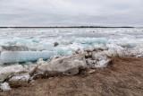 Ice along the shoreline in Moosonee 2018 May 11th