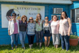 Advocacy North staff at Keewaytinok Native Legal Services in Moosonee: Angie Lynch (Speakers School), Catherine Boivin-Girard (I