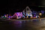 Christmas lights on a Belleville house
