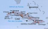 Carte de l'île de cuba avec notre circuit de 2 semaines Au cœur des Caraïbes par le voyagiste culturel Arts et Vie