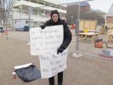 Washington DC The Whitehouse solo protester
