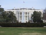 Washington DC The Whitehouse at the rear