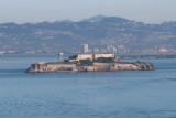 San Francisco Alcatraz from the Golden Gate bridge