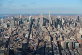 New York City view from One World Trade Center