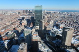 Boston view from Prudential Tower