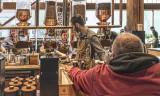 Busy Starbucks,  Seattle