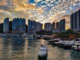 Sunset from the Aberdeen Boat Club, Hong Kong