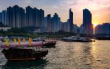 Sunset along the Aberdeen Promenade, Hong Kong Island