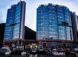 Luxury condos and boat repair yards.  Aberdeen Typhoon Shelter, Hong Kong
