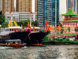 Trawlers alongside Jumbo Floating Restaurant
